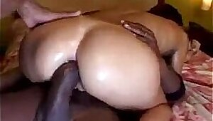 Lucky guy has a hot anal for his very first time in porn