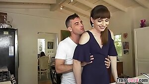 Muscle married couple fucking horny bartender