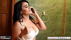 Brunette sexpot Charley Chase gets massive ride