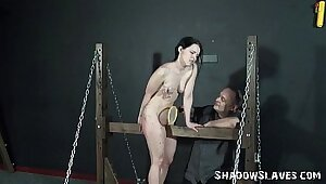 amateur teen brings associates tight pussy to the bdsm room