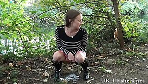 British Milf Masturbating Outdoors