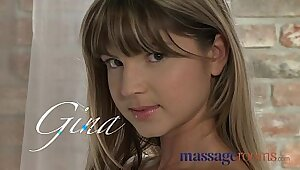 Young teen orgasms during soapy massage