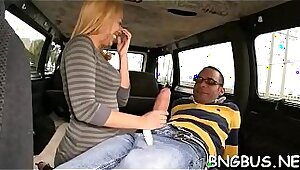 Busty bus bride and nasty gang bang