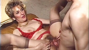 Mature hairy anal strapon fuck