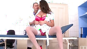Sexy Nurse Sensual Jane gets pussy pounded in the Clinic