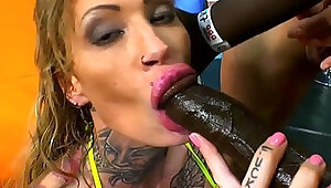 Whore swallowing cum loads