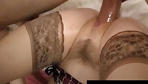 Pale petite penny pax gets a hot load of cum on her lingerie