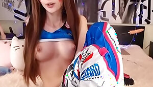 fingers in anal toys big ass d.va cosplay overwatch