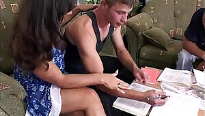 College Boys Anal With A Brunette Tutor