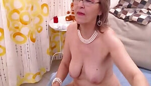 Granny fills both her holes with toys